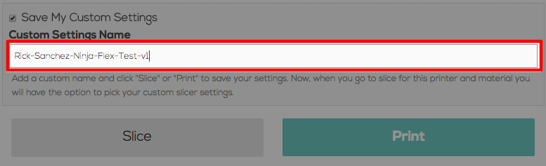 Astroprint How to Save Custom Slicer Settings