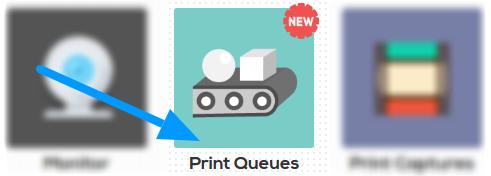 Print Queues app on AstroPrint