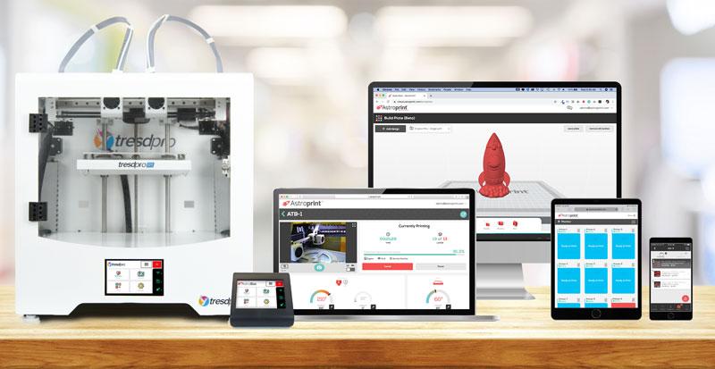 AstroPrint 3D Printing Software Platform